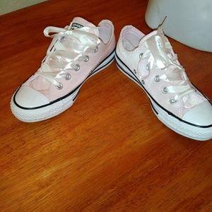 Blush Pink Velvet Chucks